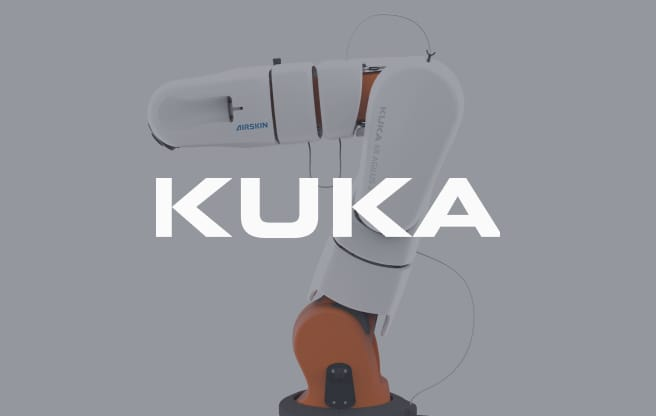 kuka collaborative robot covered with airskin